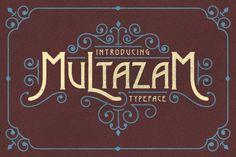Multazam Typeface by Albion Room on Creative Market