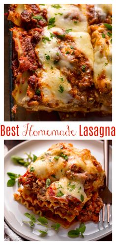 Meaty Lasagna, Italian Lasagna, Baked Lasagna, Italian Pasta, Classic Lasagna Recipe, Best Lasagna Recipe, Italian Diet, Italian Recipes, Recipes