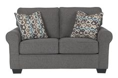 Gray Nalini Loveseat by Ashley Furniture, Polyester (100 %)