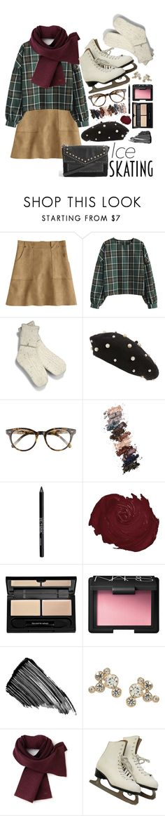 """""""let's skate"""" by nerdyquirkystyle ❤ liked on Polyvore featuring UGG, Topshop, Corinne McCormack, L.A. Girl, Urban Decay, too cool for school, NARS Cosmetics, Sisley, Lacoste and iceskatingoutfit"""