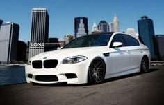BMW F10 M5 white on Loma GT1 wheels