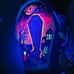 101 Amazing Glow In The Dark Tattoos You Have Never Seen Before! | Outsons | Men's Fashion Tips And Style Guide For 2020 Glow Tattoo, Uv Tattoo, Dark Tattoo, Tattoo You, Family Tattoo Designs, Family Tattoos, Tattoo Designs Men, Uv Ink Tattoos, Black Tattoos
