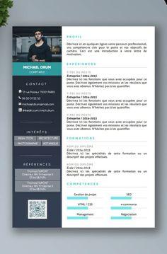 Cv Premium En Francais A Telecharger Modele Cv Exemple Cv Modele De Cv Design