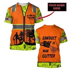 3D Chainsaw Logger Quotes Custom Name Unisex Shirts AM112047 - T-shirt / 5XL