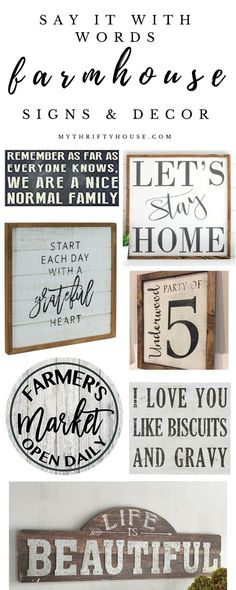 Handmade Home Decor Say it with words with farmhouse signs and decor Kitchen Sign Diy, Farmhouse Kitchen Signs, Country Farmhouse Decor, Rustic Decor, Rustic Style, Vintage Farmhouse, Country Style, French Country, Modern Farmhouse