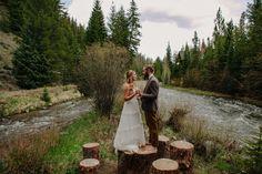 Meagan & Andrew Married | Tayler Carlisle Photography | www.taylercarlisle.com | tayler.carlisle@gamil.com | Wedding Photographer | Wedding Photography | Wedding Day | Breckenridge Wedding | Colorado Mountain Wedding | Mile 10 Station | Boho Bride | Outdoor Wedding | Log Cabin | Breckenridge, Colorado | #meetthefacklers2016 | Details | Wedding Details | Wedding Dress | Bride | Groom | First Look | Portraits | River | Bridge | Couples Portraits |