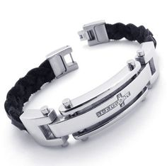 Cross Stainless Steel Mens Bracelet