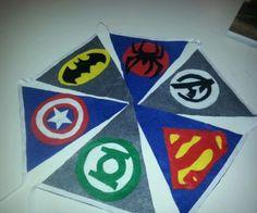 Retro Superhero Comic DC Marvel Kids Party Bedroom Bunting Flag | eBay