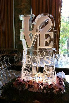 LOVE with Monogram Ice Luge Ice Sculpture _Weddings _Events _Luges ~ Ʀεƥɪאאεð вƴ ╭ Wedding 2015, Dream Wedding, Wedding Ideas, Wedding Stuff, Wedding Decor, Wedding Inspiration, Ice Sculpture Wedding, Ice Luge, Snow Sculptures