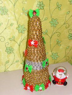 Árbol dorado para decorar esta navidad hermoso