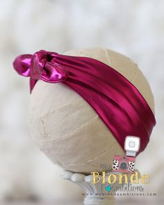 Hot Pink Metallic Aunt Jemimah Headband