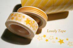 Yellow Star Washi Tape by TheWashiShop on Etsy