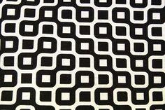 NB 1229-069 Interieurstof fantasie zwart