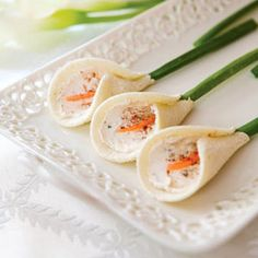 Calla Lily Tea Sandwiches. @Fritillaria I find this weird intriguing!  wintriguing!