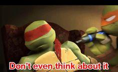 He is aslep but he can stil talk. He is a true ninja Ninja Turtles Cartoon, Teenage Mutant Ninja Turtles, Ninga Turtles, Laugh Till You Cry, Shell Shock, Tmnt 2012, Cartoon Shows, Bro, Beats