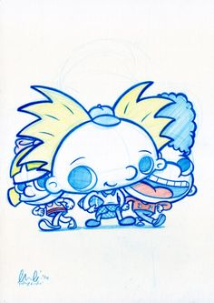 Image of Hey Arnold! ORIGINAL DRAWING! *FREE SHIPPING!*