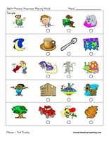 Worksheets Free Phonemic Awareness Worksheets beginning sounds test practice worksheet initial great collection of phonological awareness and other activities
