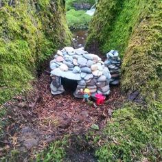 """Looks like Bob the Builder built a geocache!  """"Riverfront cottage"""" (GC5RVA5), cool cache in Yarmouth, Nova Scotia.  (pinned from Facebook to Creative Geocache Containers - pinterest.com/islandbuttons/creative-geocache-containers/)  #IBGCp"""