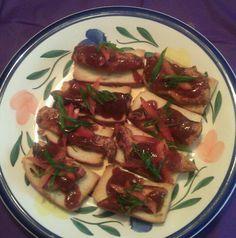 Jerk chicken toast