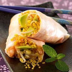 Rouleaux de printemps au Couscous Parfumé aux Épices Douces l Recette plat végétarien Tipiak