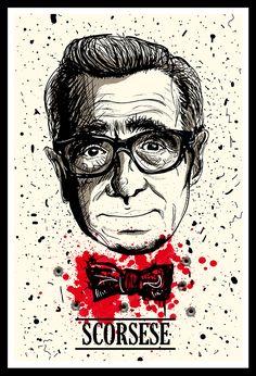 Martin Scorsese - Best Cinema Directors on Behance Cinema Posters, Film Posters, Sick Movie, Famous Movie Directors, Tarantino Films, Quentin Tarantino, Alternative Movie Posters, Arte Pop, Cult Movies