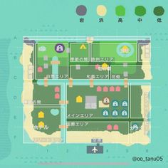 あつ森 住宅街 設計図