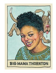 Portraits of legendary blues artists ~ Robert R Crumb ~ Big Mama Thornton