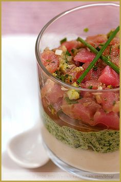 Tuna Tartare Cornet with and Avocado and Wasabi Mousse | Tuna, Mousse ...
