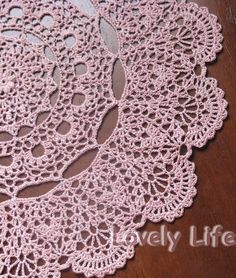 Free Printable Crochet Doily Patterns   Mantilla Doily - Close up