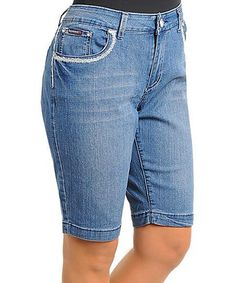 Look what I found on #zulily! Light Blue Capri Jeans - Plus #zulilyfinds,,,,I,Like these,,,,,
