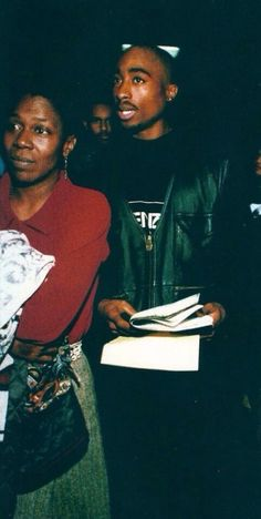 Tupac Shakur with his mother