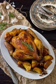 Yerbabuena en la cocina: Pollo asado con romero, tomillo y limón... al estilo de Carlos