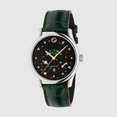 5abb0885d26 G Timeless in Green Aligator - this watch blends iconic House motifs with  galactic symbols.