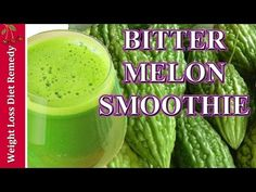 Bitter melon smoothie with banana. This is slightly sweet smoothie. If you want bitter melon smoothie without fruits please check this recipe bellow. Weight Loss Smoothies, Healthy Smoothies, Smoothie Recipes, Bitter Melon Recipes Diabetes, Diabetic Drinks, Diabetic Foods, Diabetic Recipes, How To Make Bitters, Antioxidant Smoothie