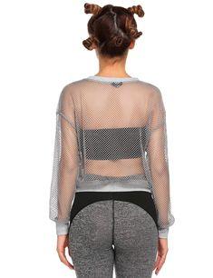 71545fd287d8c Women Maternity Clothes - Goldenfox Mesh Cover up Swimsuit Summer Swimwear  Knit Crochet Beachwear Grey Large