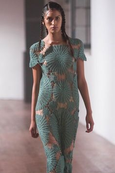 Used Hobbies For Sale Knitwear Fashion, Knit Fashion, Boho Fashion, Ribbed Crochet, Knit Crochet, Crochet Wedding Dresses, Mode Crochet, Recycled Fashion, Crochet Designs