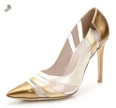 f29ec718db9 Aisun Women s Color-Contrasted Low Cut Dressy Pointed Toe Slip On High  Stiletto Heels Pumps