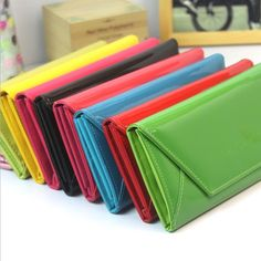 17.45$  Buy now - http://vixfb.justgood.pw/vig/item.php?t=hqmhld5987 - Candy Fluorescent Colored WalletLeather Wallets Girls &Long Clutch Cute Card Hol 17.45$