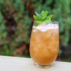 Hamilton Beach 1½ ounces of bourbon (Old Forester) 1½ ounces of oloroso ½ ounce of lemon juice ¾ ounce of simple syrup ¾ ounce of black tea (steep 1 teabag in 1 cup of hot water) 8 mint leaves dash of Angostura bitters garnish with more mint