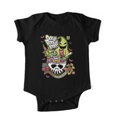 'Oogie Boogie Loops' Kids Clothes by nikholmes Gothic Baby Clothes, Baby Kids Clothes, Kids Clothing, Punk Baby, Goth Baby, Baby Outfits Newborn, Baby Boy Outfits, Kids Outfits, Native American Baby