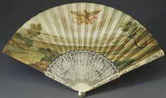 Italy - Fan depicting Baccus and Ariadne on the island of Naxos Antique Fans, Hand Fan, Utensils, 18th Century, Italy, Island, Antiques, Awesome, Painting