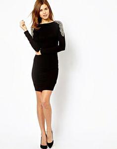 Image 4 ofWarehouse Embellished V Back Dress