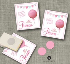 baby shower gift tags for eos lip balm gifts princess design thank you tags