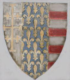 Stemma di Re Carlo III di Durazzo. [Carlo II d'Angiò, 1285-1308]