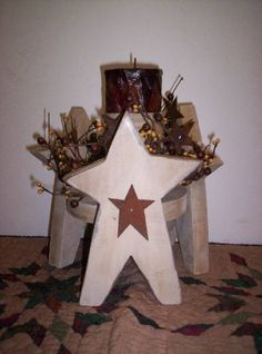 3 Star Candle Holder