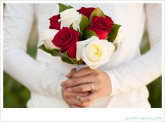 Petite Rose Bouquet red and white | red and white roses bouquet :: Lucia Isabella Photography Blog