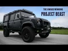 PROJECT BEAST Project Beast is a special edition one of kind build by ECD. Includes a motor with automatic transmission, upgraded . Defender Film, Land Rover Defender 110, Land Rovers, Automatic Transmission, My Passion, Offroad, Trailers, 4x4, Beast
