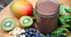 360-Calorie Blueberry-Mango-Kiwi Smoothie For Lovelier Locks http://www.popsugar.com/fitness/Smoothie-Recipe-Healthier-Hair-30557044?ref=39528679