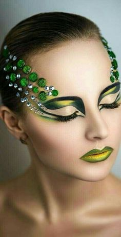 art makeup design inc nail makeup makeup ideas nail makeup nail makeup and makeup salon design blue prom dress makeup nail design hansen chrome nail makeup pure chrome Eye Makeup Art, Makeup Salon, Makeup Studio, Dress Makeup, Costume Makeup, Futuristic Makeup, Egyptian Makeup, Creative Makeup Looks, Runway Makeup