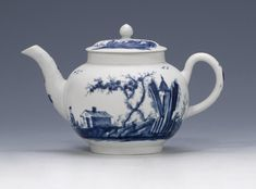 An exceptional Worcester teapot and cover Circa 1756.